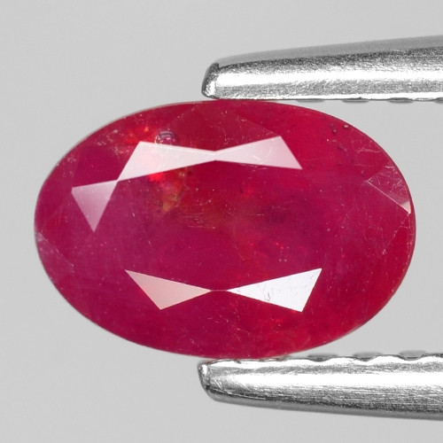 1.06 Cts Oval Shape Pinkish Red Natural Ruby BURMA  Loose Gemstone