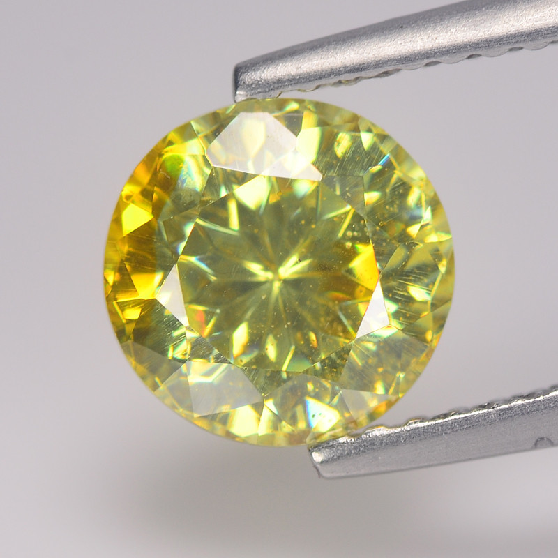 Exotic  Sphelarite 1.97 Cts Canary Yellow Dalia Cut BGC658