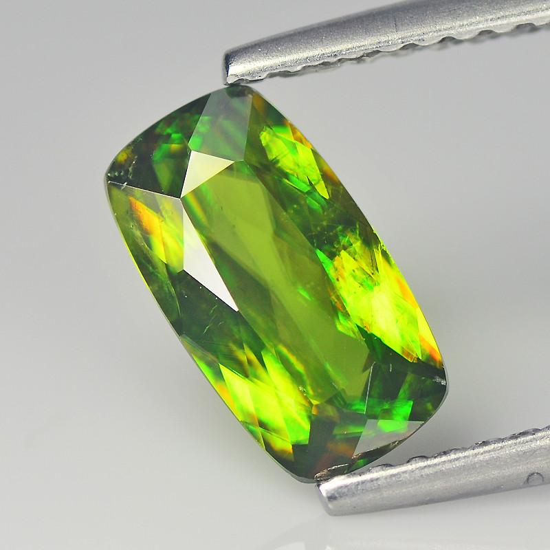 Marvelous 1.02 Cts pakistan Sphene Chrome Green Portuguese Cut BGC624
