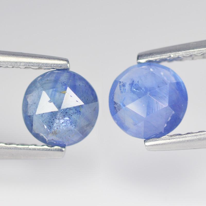 Alluring Cylon Sapphire 1.42 Cts Blue Rose Cut BGC604
