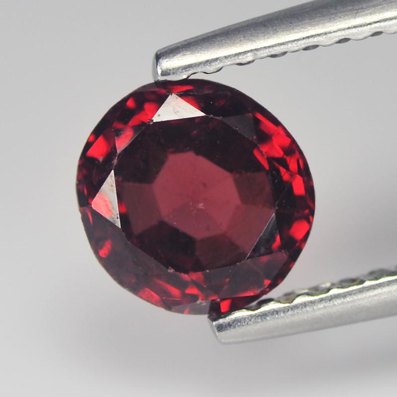 Splendid 1.13 Cts  Rhodolite Garnet Red Round Step cut BGC732