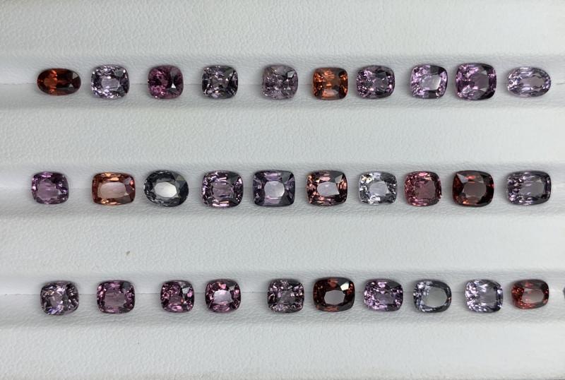 23.68 CT Spinel Gemstones Parcel/30 PC