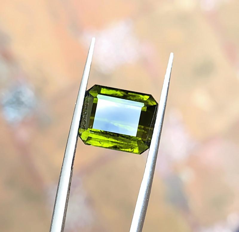 5.80 Ct Natural Olive Green Transparent Tourmaline Gemstone