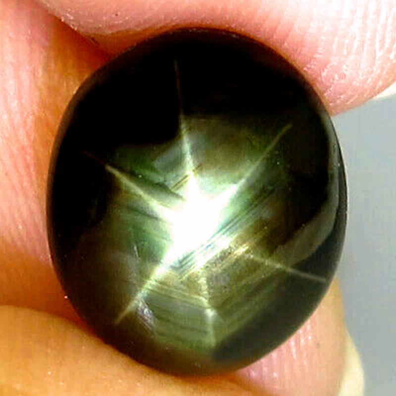 6.45 Carat Thailand Black Star Sapphire - Gorgeous