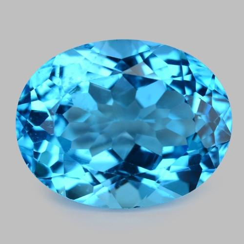 26.05 Carat Super Swiss Blue Natural Topaz Gemstone