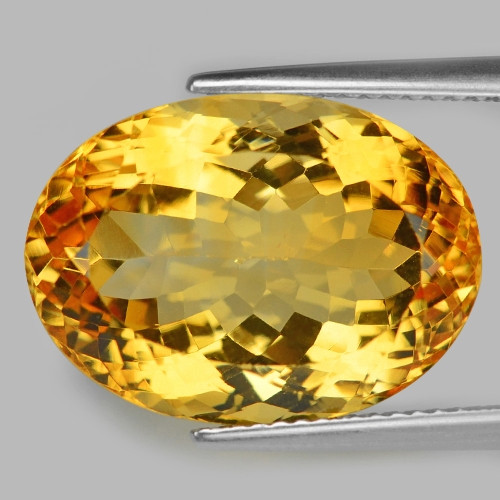 16.59 Cts Fancy Golden Yellow Color Natural Citrine Gemstone