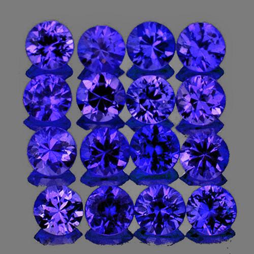 1.80 mm Round 25 pcs Intense Violet Blue Sapphire [VVS}