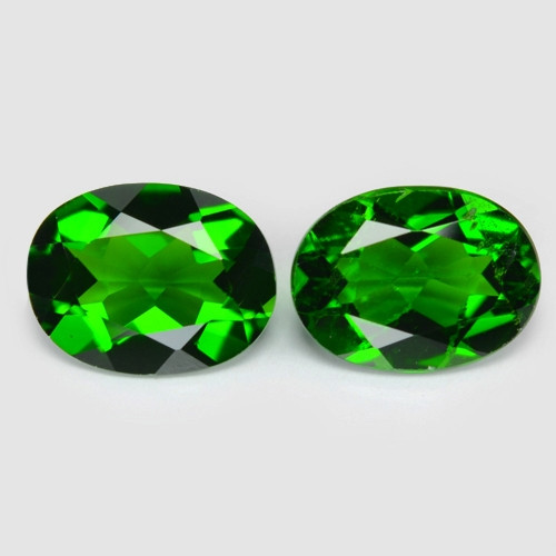 2.47 Cts 2 Pcs Natural Green Color Chrome Diopside Loose Gemstone