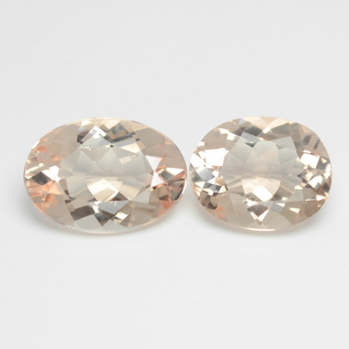 4.10 Cts 2 Pcs Amazing Rare Natural Pink Color Morganite Gemstone