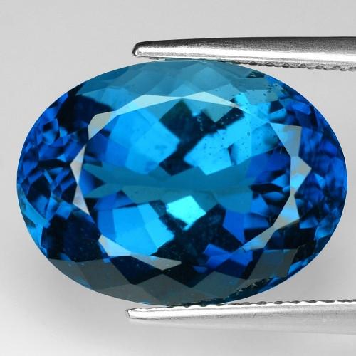 15.39 Carat London Blue Natural Topaz Gemstone