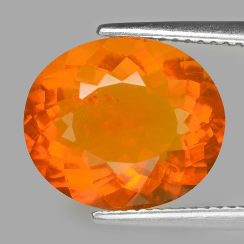 4.91 Cts Rare Fancy Orange Color Natural Fire Opal