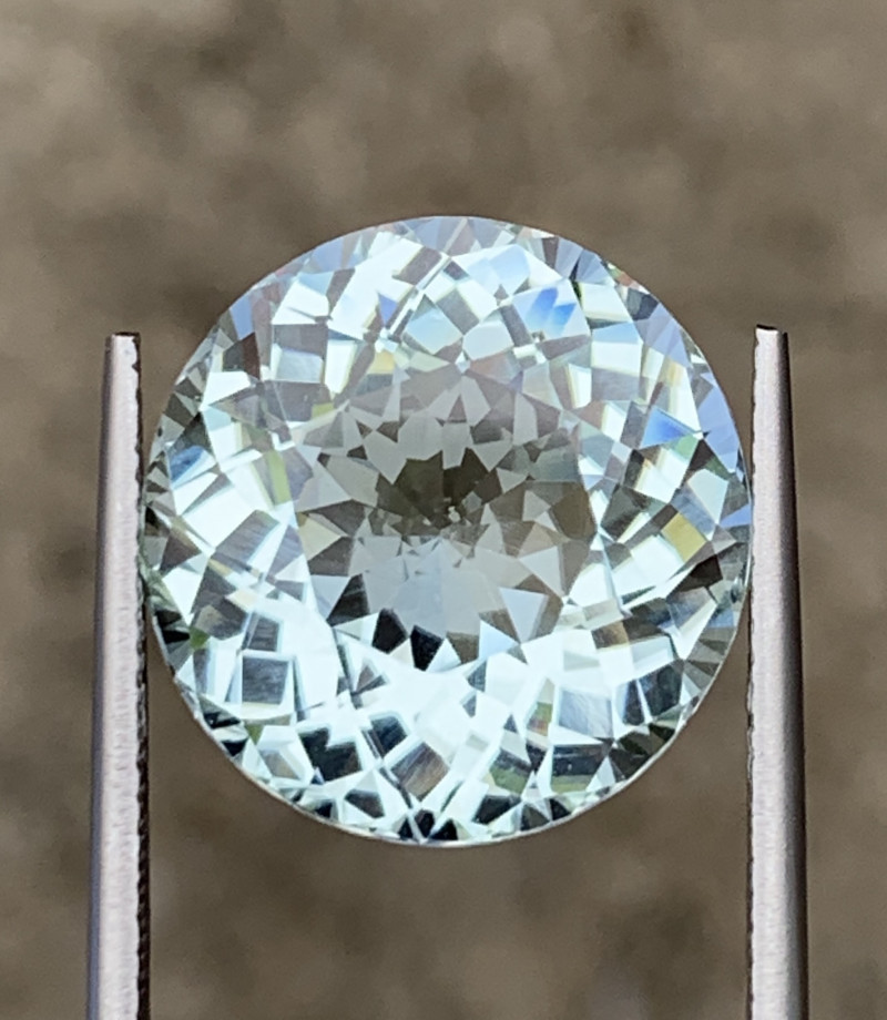 16.58 ct Natural White Color Tourmaline Gemstone Top Luster