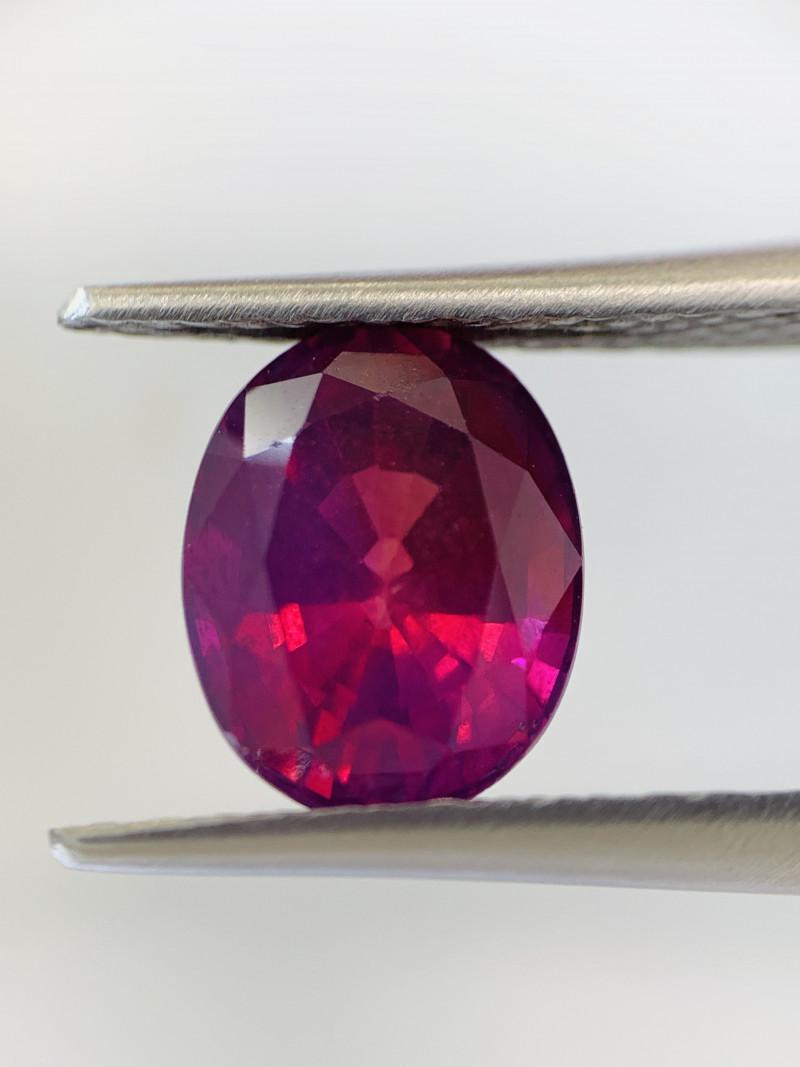 Natural Intense Pinkish Purple Sapphire (Heated) 3.09 cts (SKU Z262)