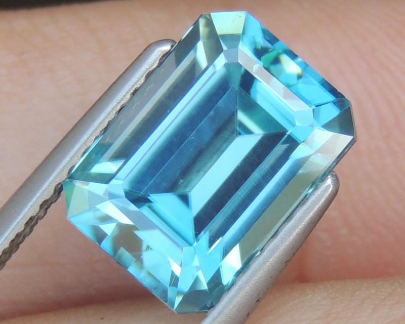 6.47cts Blue Zircon from Cambodia