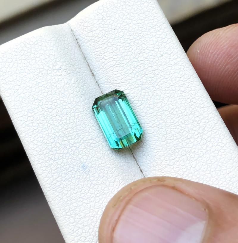 2.10 Ct Natural Blueish Green Transparent Tourmaline Gemstone