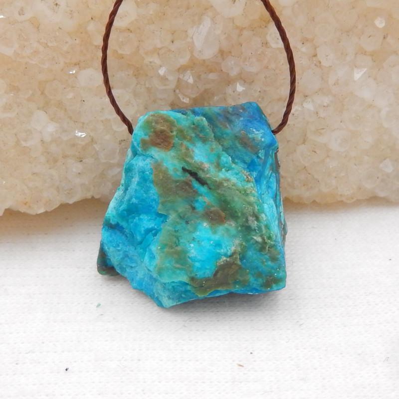 23.5cts Raw Blue Opal Pendant, October Birthstone, Blue Opal Pendant Bead H