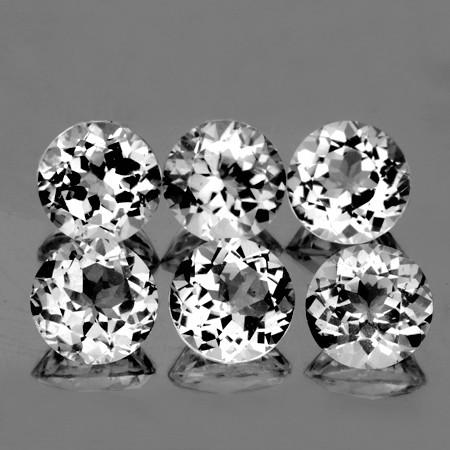 6.00 mm Round 6 pcs 6.41cts White Topaz [VVS]