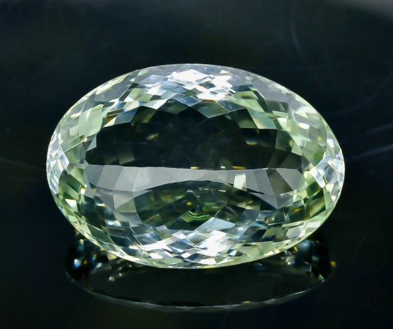 40.60 Crt  Green Prasiolite Amethyst Faceted Gemstone (Rk-6)