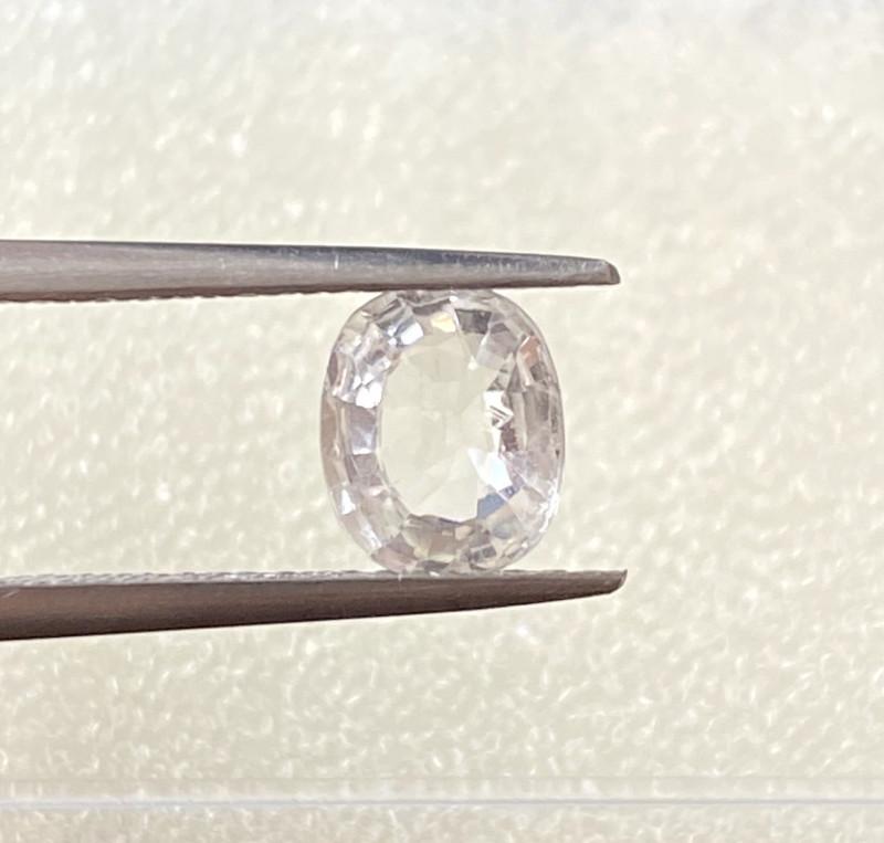 1.32ct unheated white sapphire