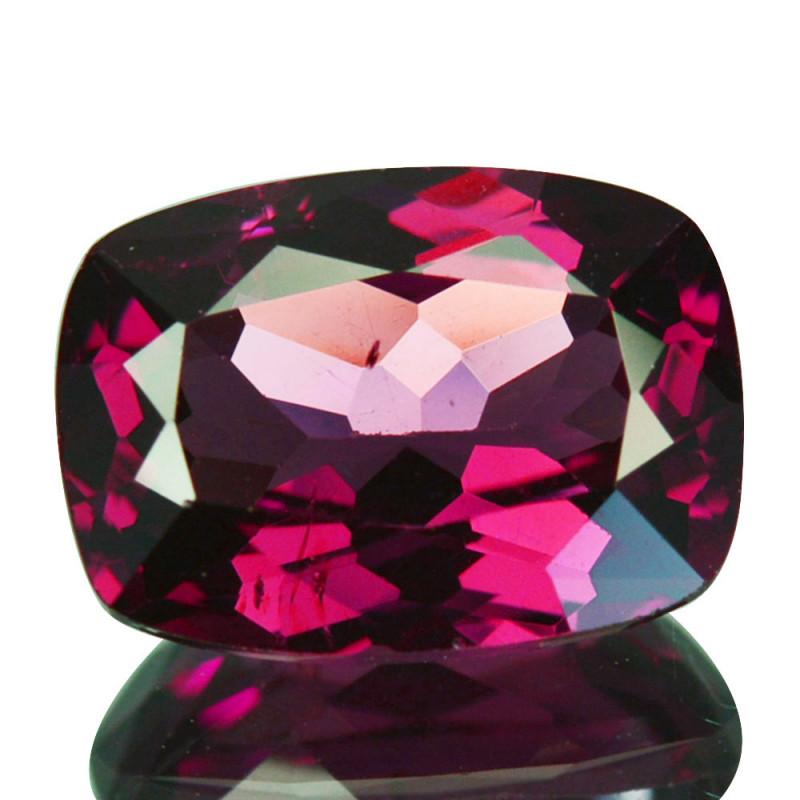 2.13 Cts Natural Rose Pink Rhodolite Garnet Cushion Cut Mozambique
