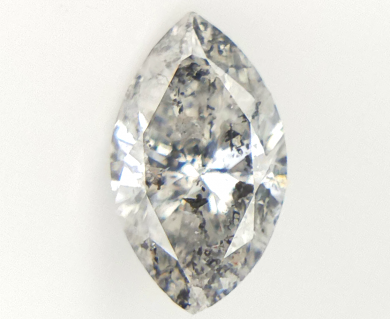 0.31 cts , Natural Salt And Pepper Diamond , Marquise Brilliant Cut