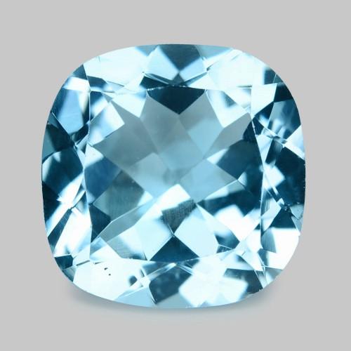 6.30 Cts Un Heated Blue  Natural Aquamarine Loose Gemstone