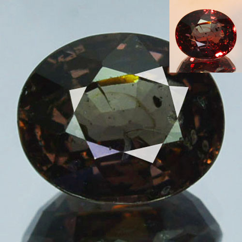 ~UNTREATED~ 3.19 Cts Natural Color Change Garnet Oval Tanzania