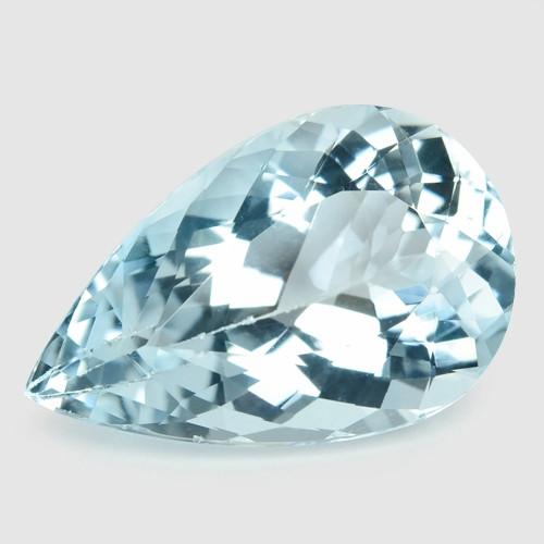 7.59 Cts Un Heated Blue  Natural Aquamarine Loose Gemstone