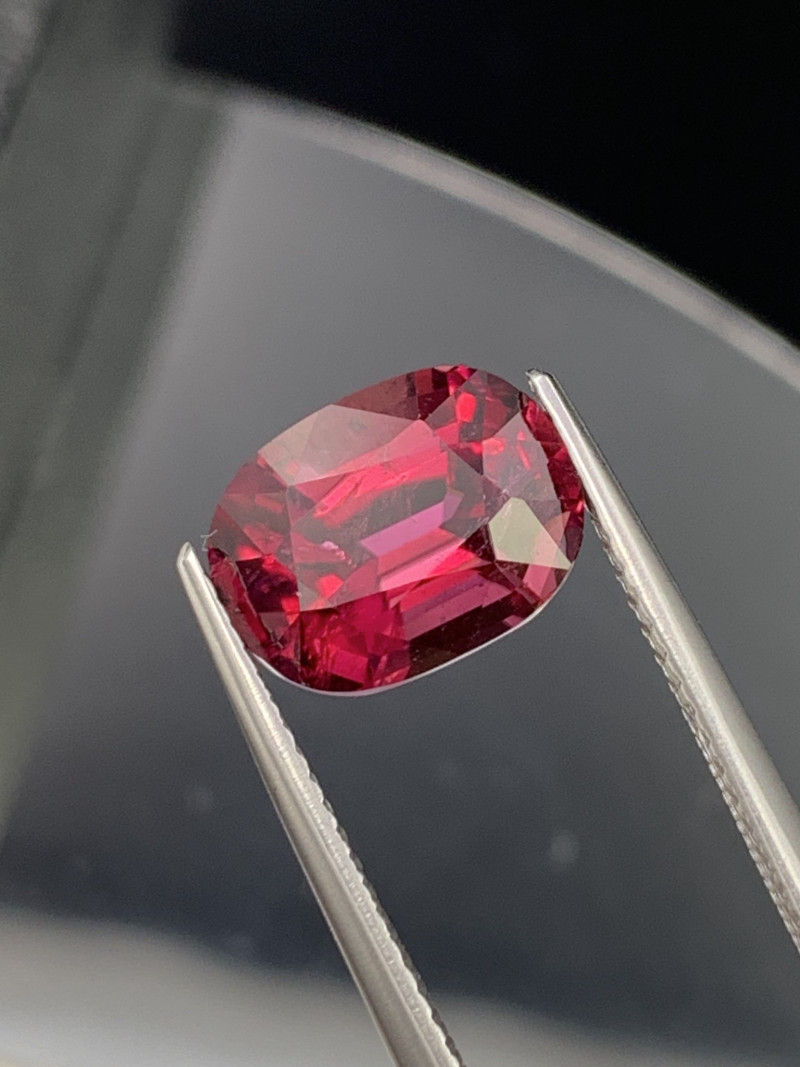 3.62 Cts Top Grade Vivid Red Natural Rubellite Tourmaline Custom Cut