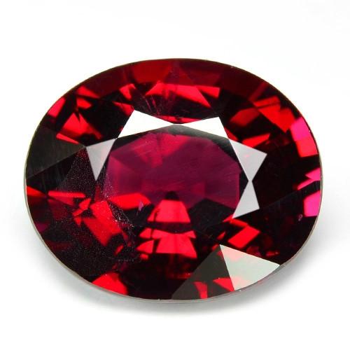 5.00 Cts Unheated Natural Pinkish Red Rhodolite Garnet Gemstone