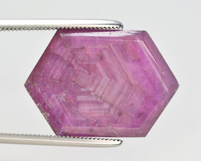 Rarest 12.65 Ct Transparent Ruby Trapiche