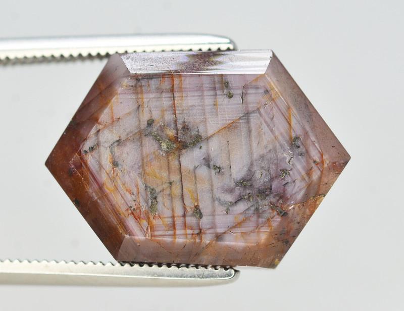 Rarest 13.55 Ct Transparent Ruby Trapiche