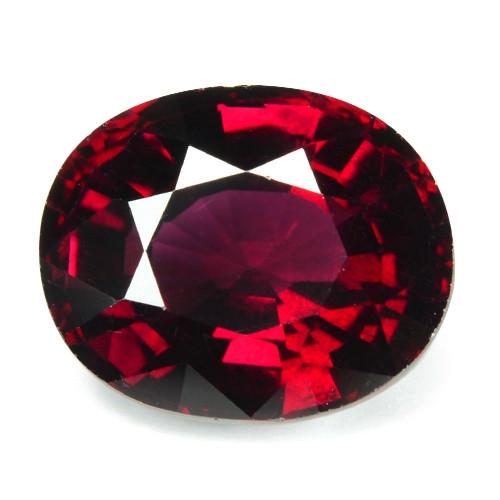 6.72 Cts Unheated Natural Cherry Pinkish Red Rhodolite Garnet Gemstone