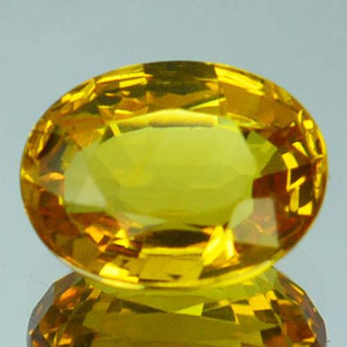 1.29 Cts Natural Corundum Yellow Sapphire Beryllium Heated Madagascar