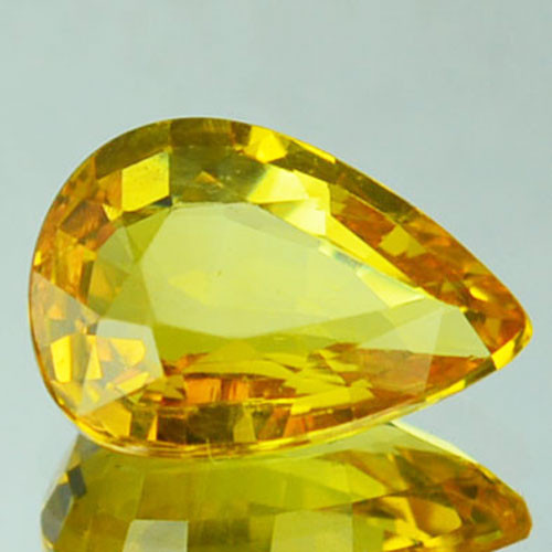 1.12 Cts Natural Corundum Yellow Sapphire Beryllium Heated Madagascar