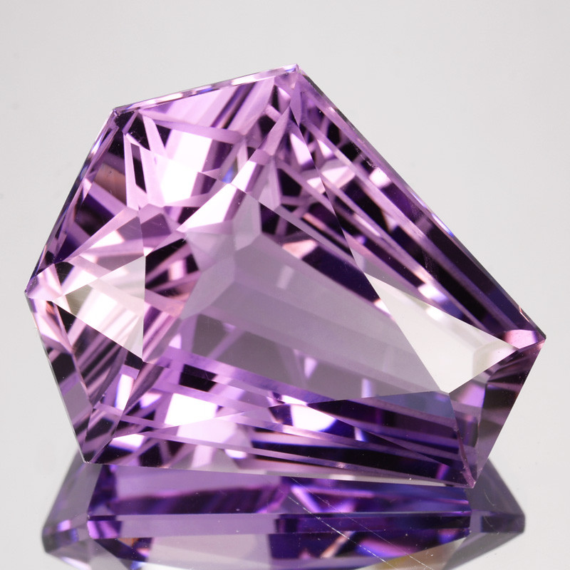 ~CUSTOM CUT~ 27.04 Cts Natural Purple Amethyst Fancy Bolivia