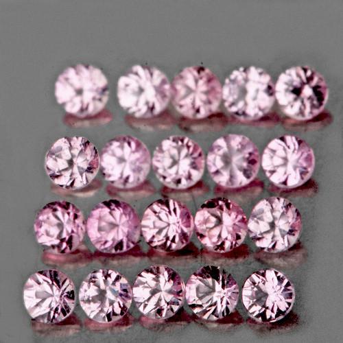 1.20 mm Round 90 pcs 0.96ct Light Pink Sapphire [VVS]