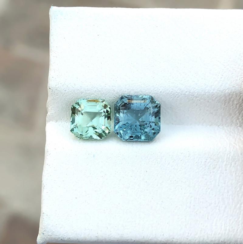 2.30 Ct Natural Green & Blue Transparent Tourmaline Gems Pairs