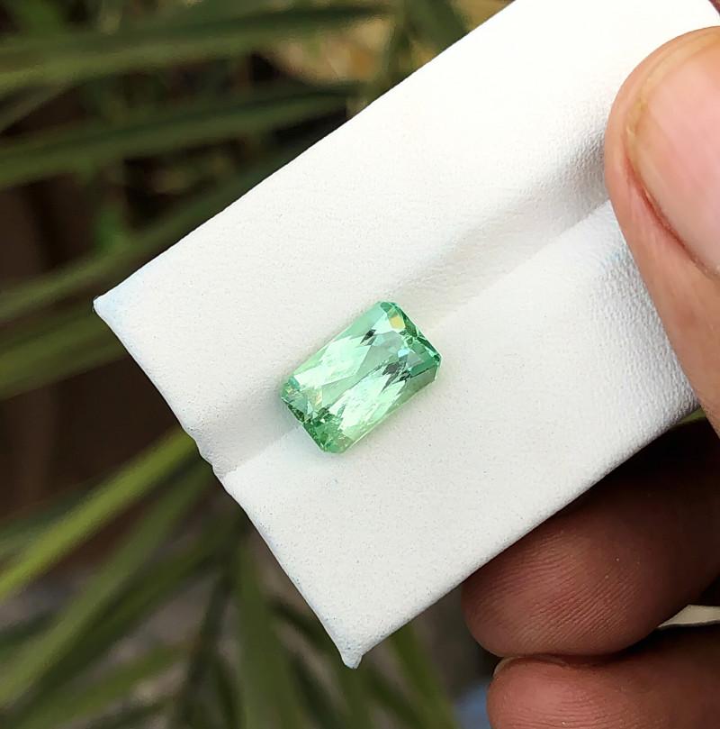4.10 Ct Natural Greenish Transparent Kunzite Gemstone