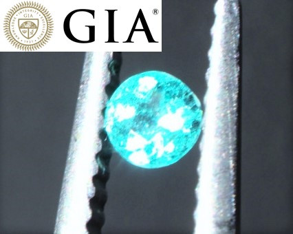 BRAZIL PARAIBA! VIVID SWIMMING POOL BLUE! NEON GLOW! GIA Certified Paraíba