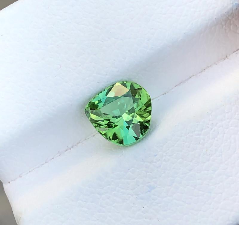 1.50 Ct Natural Greenish Blue Transparent Tourmaline Ring Size Gemstone