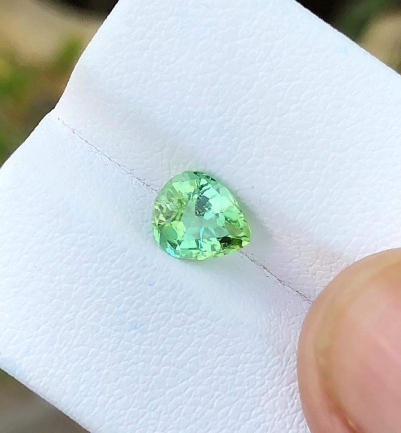1.15 Ct Natural Green Transparent Top Quality Ring Size Tourmaline Gem