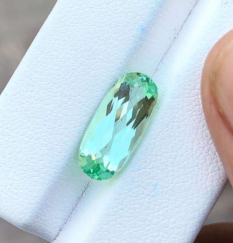 5.30 Ct Natural Green Transparent Ring Size Kunzite Gemstone