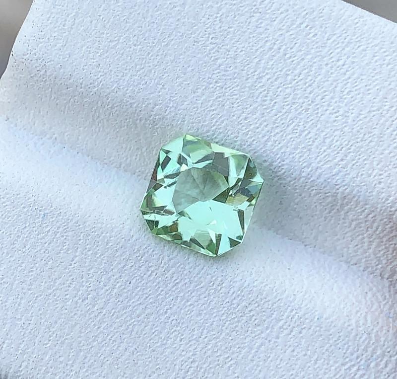 1.70 Ct Natural Sea Foam Color Transparent Tourmaline Ring Size Gemstone