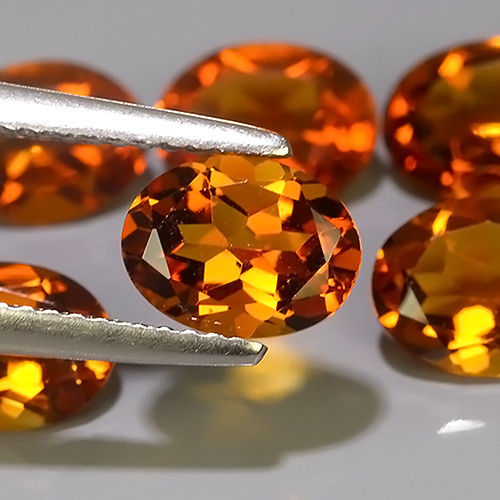 6.75 CTS TOP DAZZLING NATURAL OVAL CUT ULTRA RARE CITRINE NR!