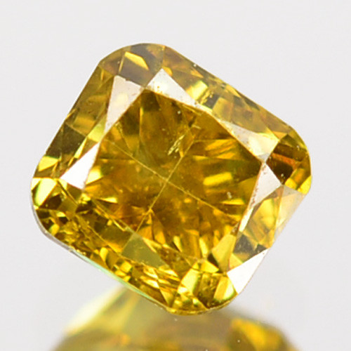~UNTREATED~ 0.22 Cts Natural Diamond Fancy Yellow Octagon Cut Africa