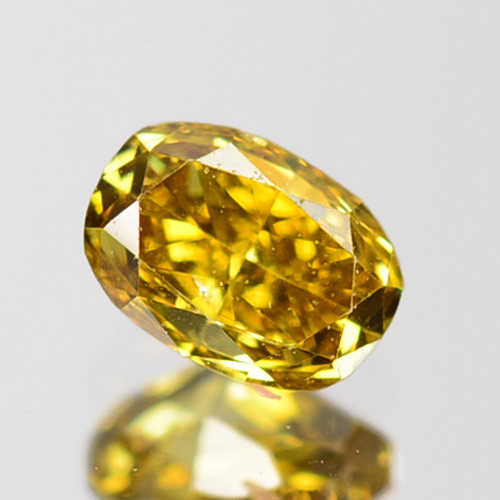 ~UNTREATED~ 0.20 Cts Natural Diamond Fancy Yellow Oval Cut Africa
