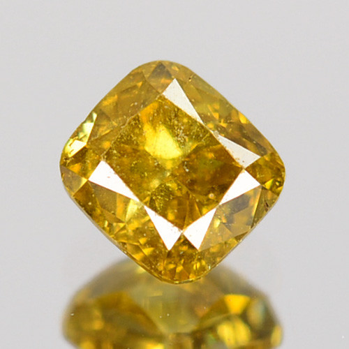 ~UNTREATED~ 0.21 Cts Natural Diamond Fancy Yellow Cushion Cut Africa