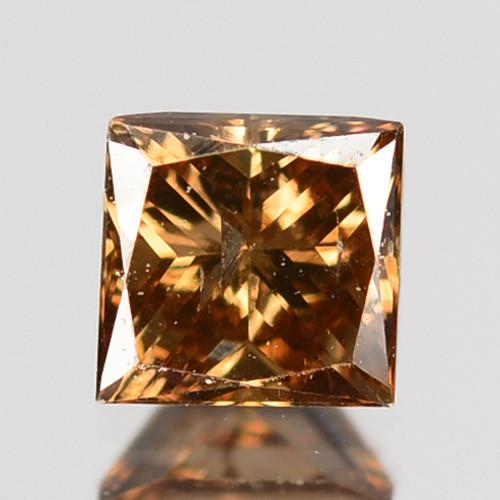 ~UNTREATED~ 0.26 Cts Natural Diamond Brownish Yellow Princess Cut Africa