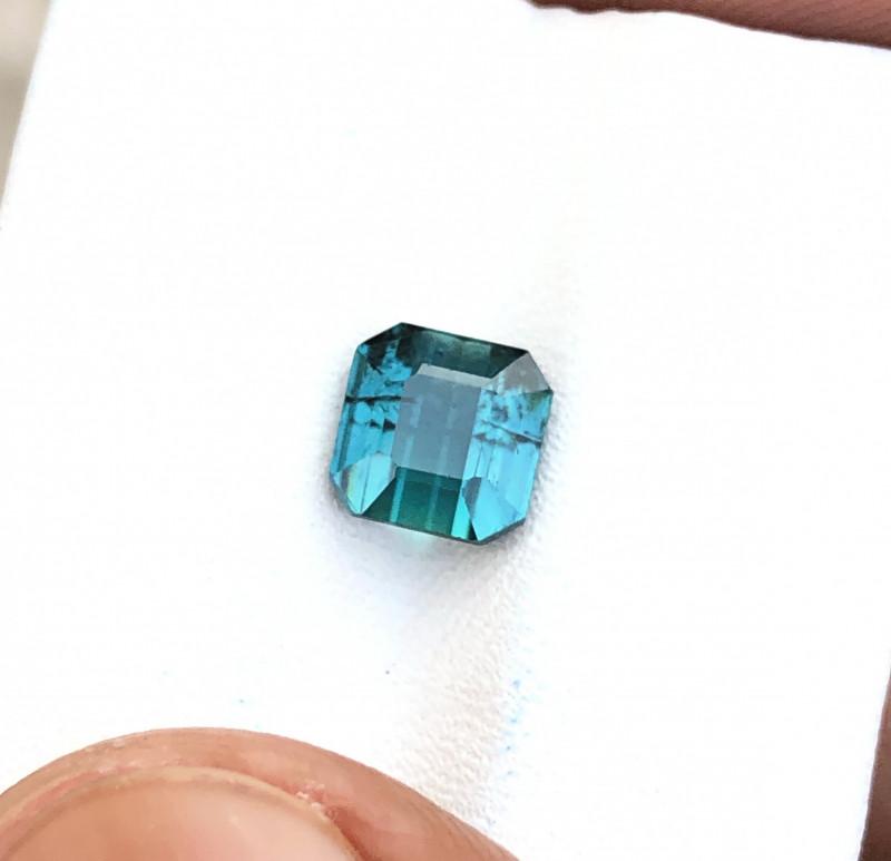 1.95 Ct Natural Blueish Transparent Ring Size Tourmaline Gemstone